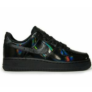 Nike Air Force 1 07 Black Reflective Holo Sneakers